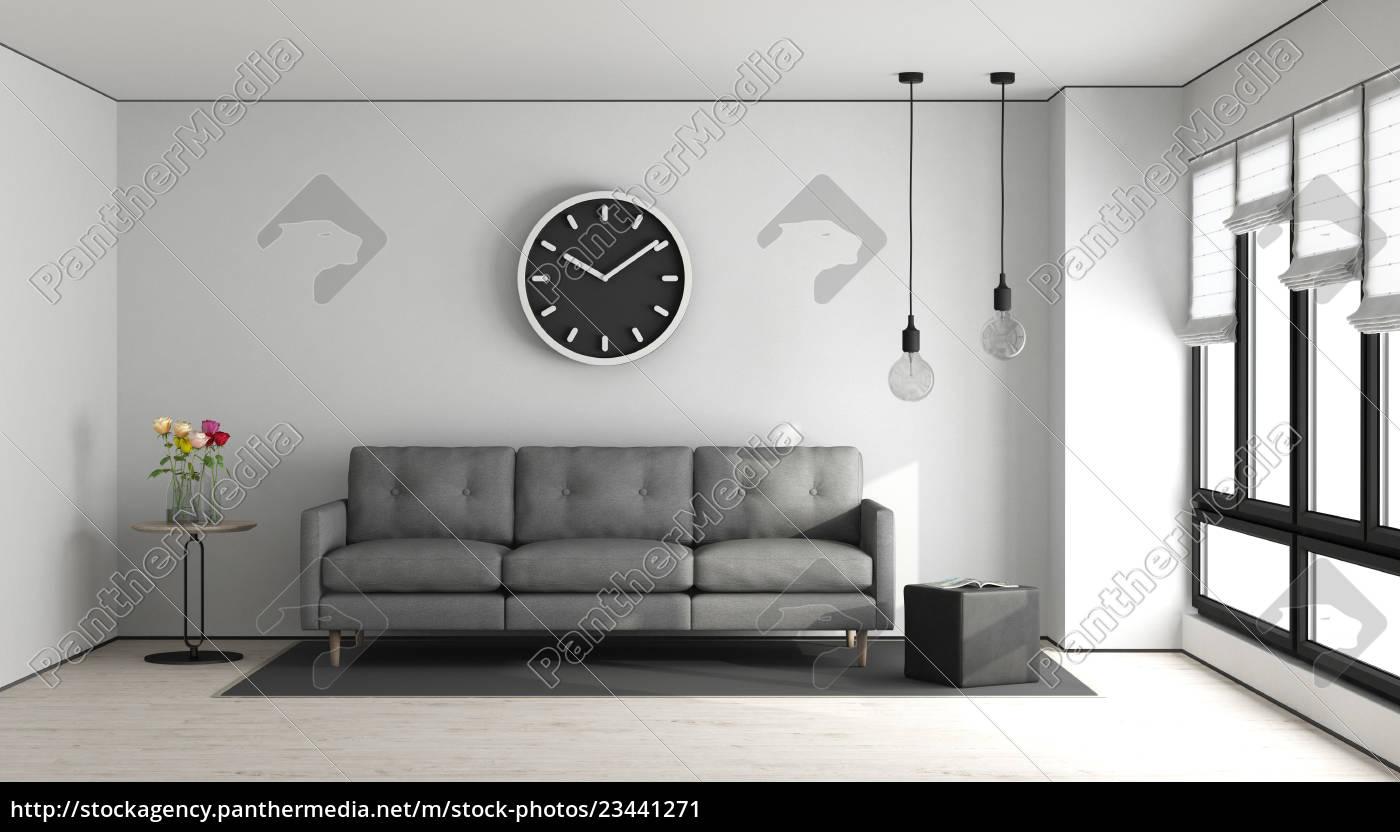 Stockfoto 23441271 Minimalistisches Wohnzimmer