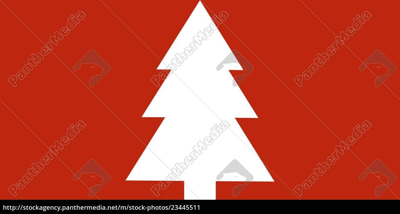 Bild Tannenbaum.Lizenzfreies Bild 23445511 Schlichte Weihnachtskarte Rot Mit Weißem Tannenbaum
