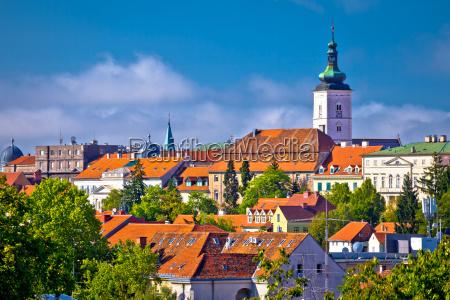 zagreb historic upper town skyline view