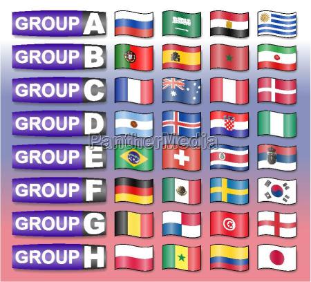 flaggen fussballgruppen