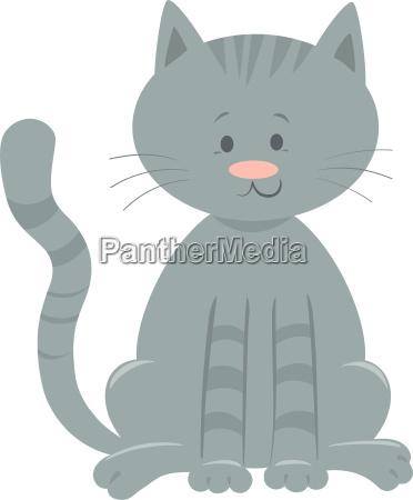 cute domestic cat cartoon animal character