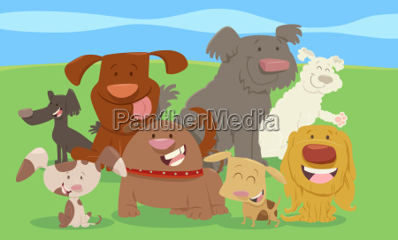 cartoon dogs or puppies group