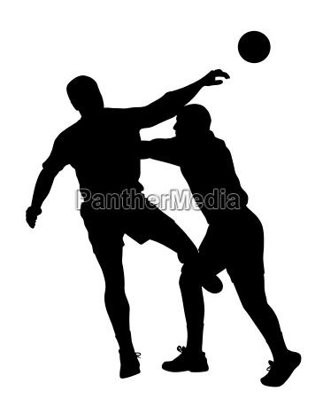 handball spieler blockiert gegenspieler