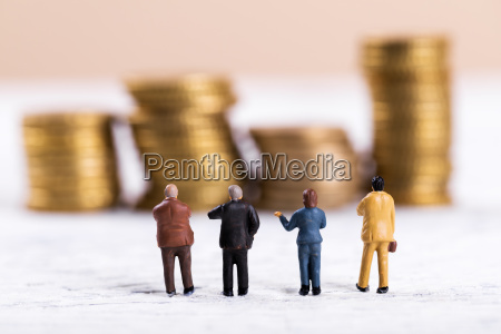 business people discussing about money