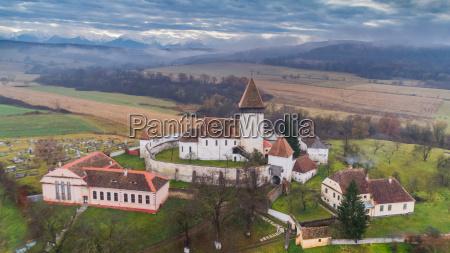 hosman fortified church in transylvania romania