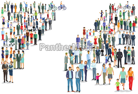 personengruppen richtungen illustration