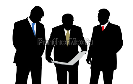 three businessmen architects or engineers with