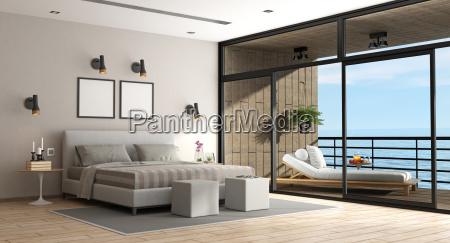 grosses schlafzimmer einer ferienvilla