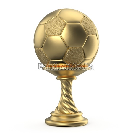 gold trophy cup soccer football 3d