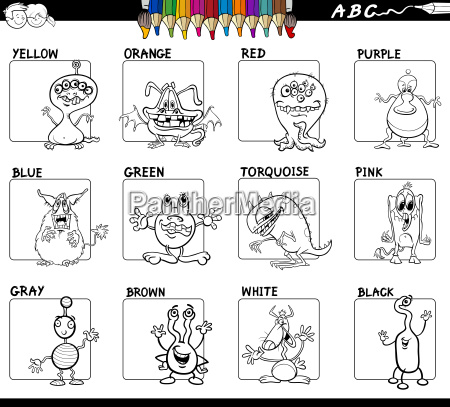 basic colors set for coloring with