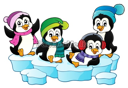 happy winter penguins topic image 1