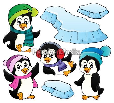 happy winter penguins topic set 1