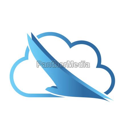 vogel und wolke phoenix vogel im