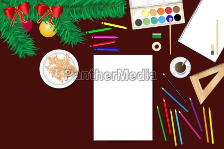 schaffen des hauptweihnachtsdekorations konzeptvektors