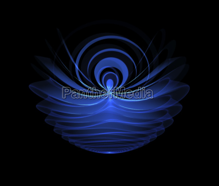 abstract blue glowing motive isolated over