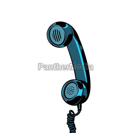 retro telefonrohr isoliert auf weissem hintergrund