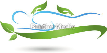 human hands massage naturopath logo