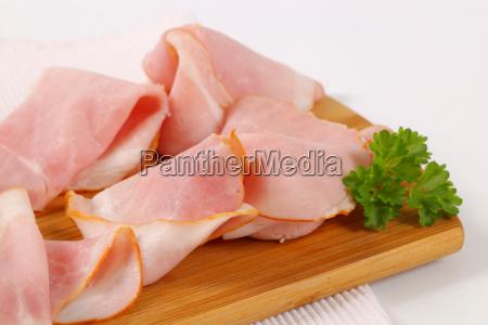 slices of pork ham