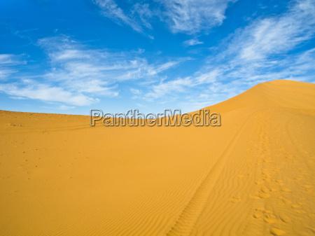 wueste oednis afrika duene marokko landschaftsbild