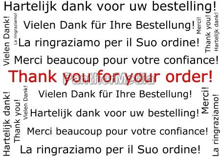 danke fuer ihre bestellung wordcloud