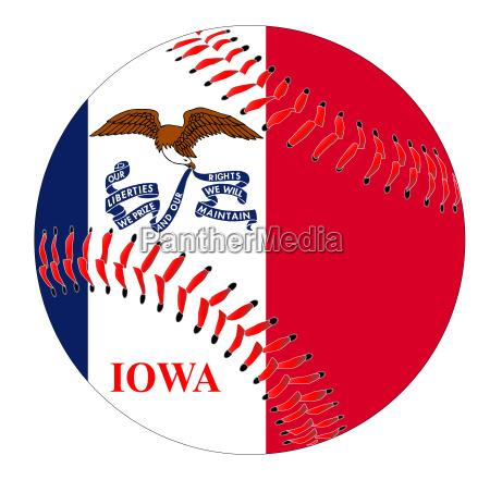 iowa flaggen baseball