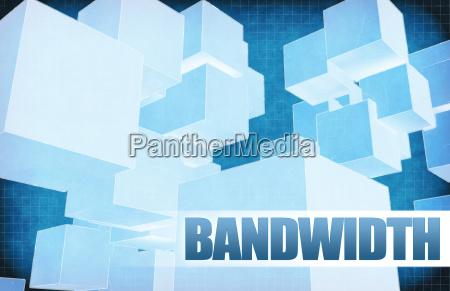 bandwidth on futuristic abstract