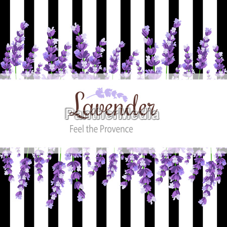lavender card with flowers vintage label