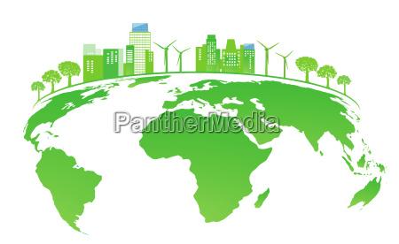 land mit solaranlagen und windenergie