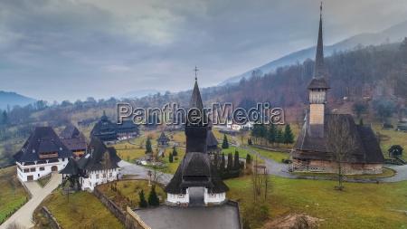 barsana monastery in maramures romania