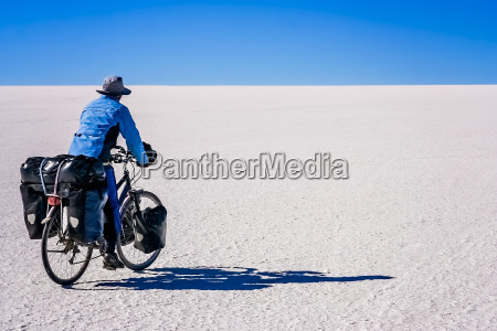 cycling on the salar de uyuni