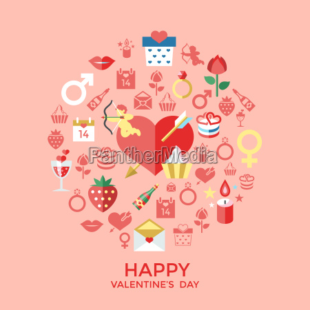 digital vector february happy valentines day