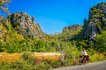 cycling through tropics in central thailand