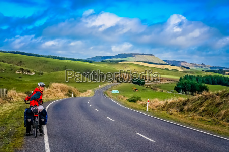 cycle touring through new zealand