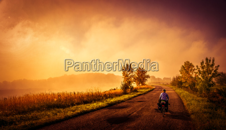 cycling on the rural roads