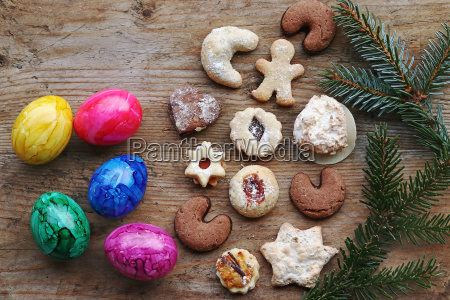 christmas or easter specialties and food