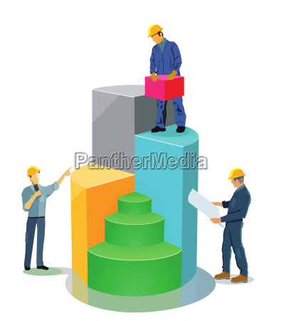 aufbau leistung bilanz illustration