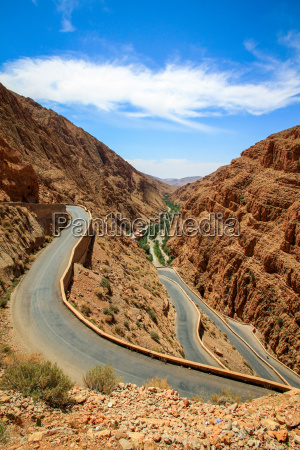 winding road through dades gorge