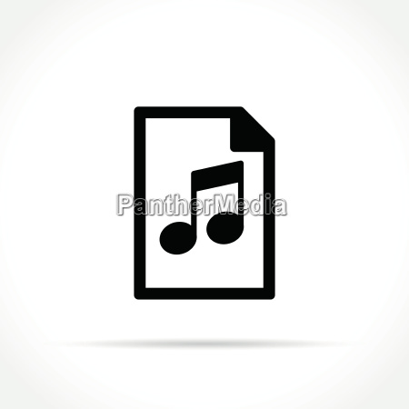 music file icon on white background