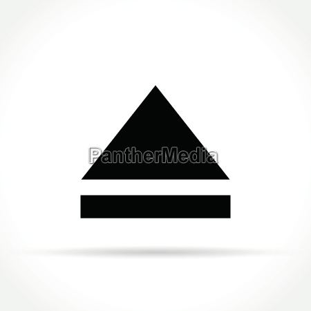 eject icon on white background