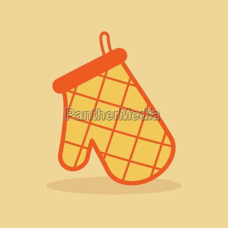 ofen handschuh orangensymbol