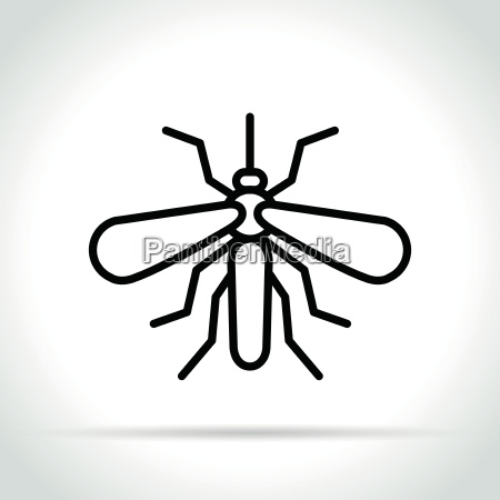 moskitoikone auf weissem hintergrund