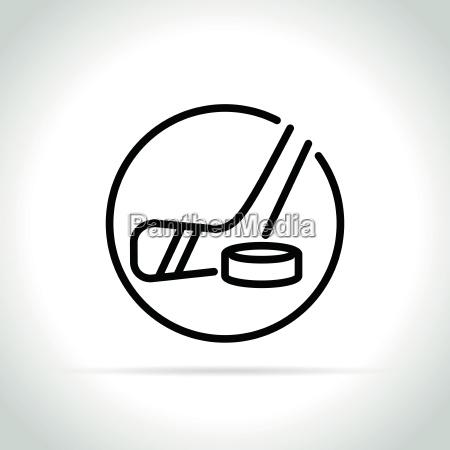 hockey icon on white background