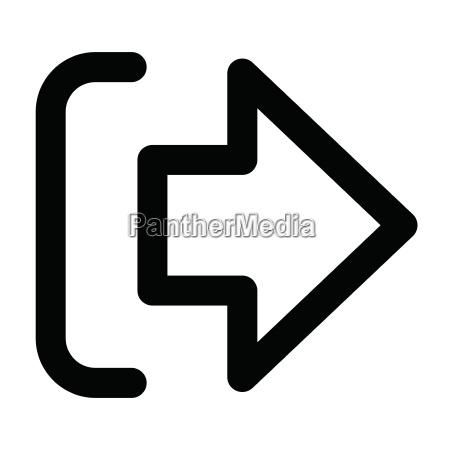 logout icon on white background