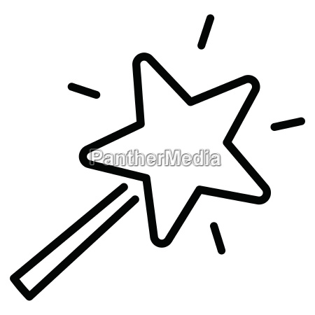 magic wand icon on white background