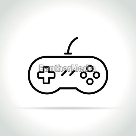 gaming ikone auf weissem hintergrund