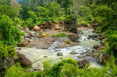 landscape of the lombok island