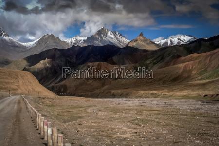 mountain road in tibet