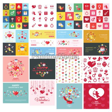 digital vector february happy valentine day