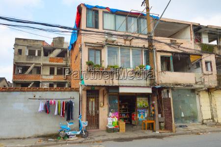 shanghai elendsviertel bauen china