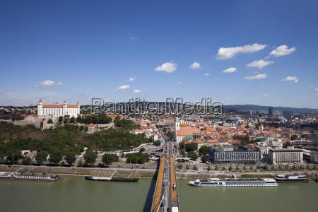 slovakia bratislava view over the city